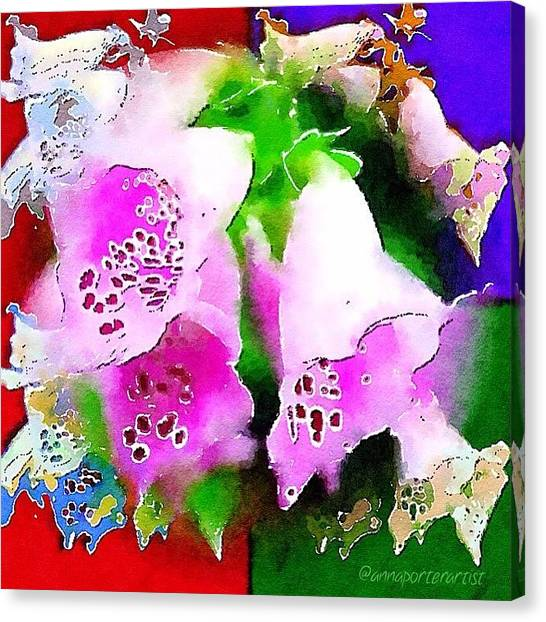 Florals Canvas Print - Flowers For Andy by Anna Porter