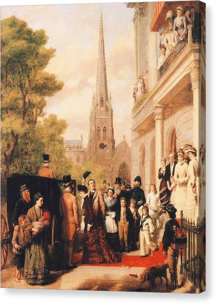 For Better Or For Worse Canvas Print - For Better For Worse by William Powell Frith