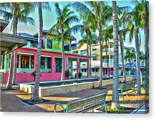 For Myers Beach Restaurant Canvas Print
