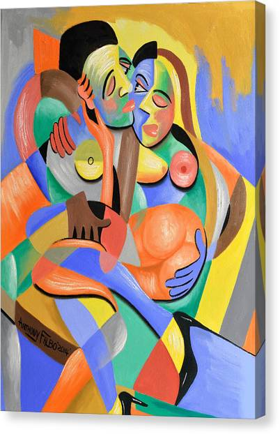 Cubism Canvas Print - For Play by Anthony Falbo
