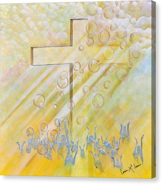 For The Cross Canvas Print
