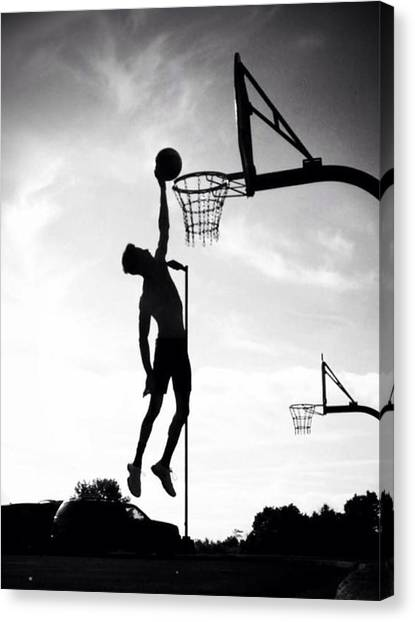 Dwayne Johnson Canvas Print - For The Love Of Basketball  by Lisa Piper