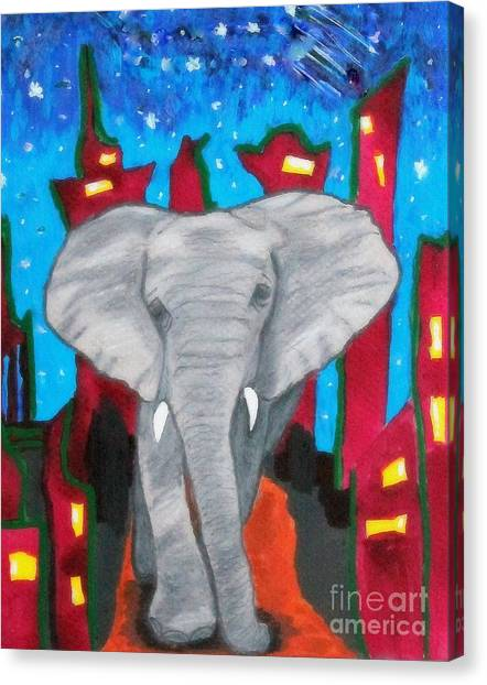 For The Love Of Elephants Canvas Print