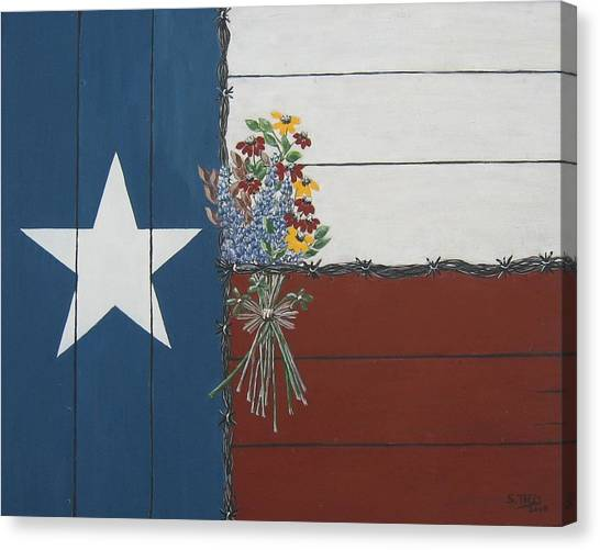 For The Love Of Texas Canvas Print