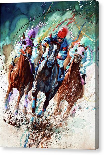 Thoroughbreds Canvas Print - For The Roses by Hanne Lore Koehler