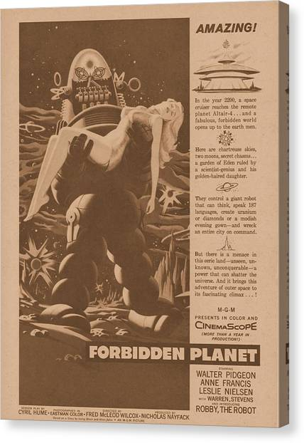 Forbidden Planet Canvas Print - Forbidden Planet 1956 by Douglas Settle