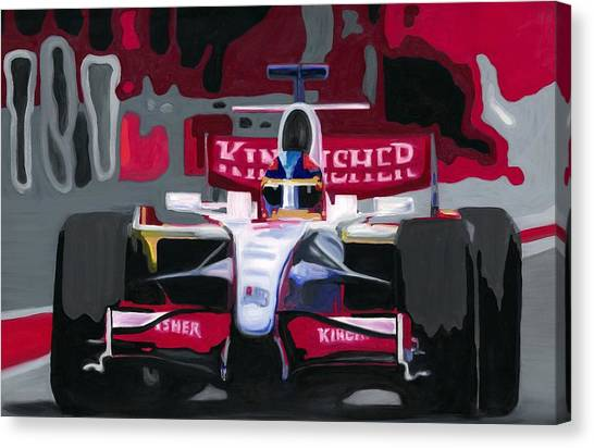 Force India Rising In F1 Monaco Grand Prix 2008 Canvas Print