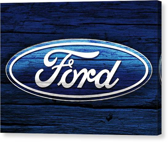 Ford Truck Canvas Print - Ford Barn Door by Dan Sproul