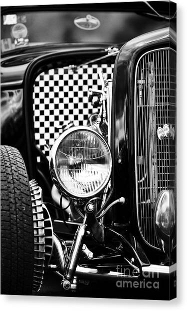 Street Rods Canvas Print - Ford Dragster Monochrome by Tim Gainey