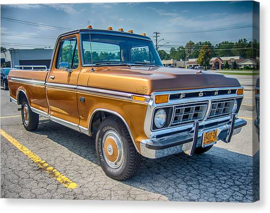 Ford F-100 7p00531h Canvas Print