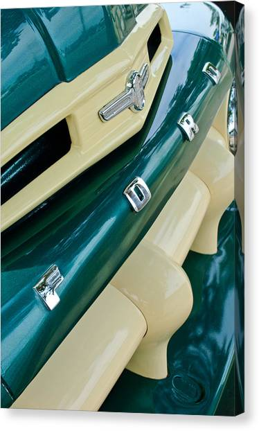 Ford Truck Canvas Print - Ford F-2 Truck Grille by Jill Reger