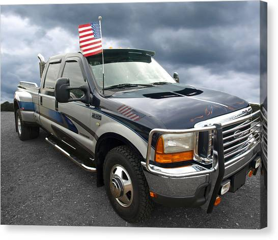 American Independance Canvas Print - Ford F350 Super Duty Truck by Gill Billington