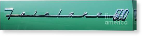 Ford Fairlane 500 Badge Canvas Print