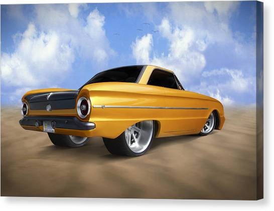 Street Rods Canvas Print - Ford Falcon by Mike McGlothlen