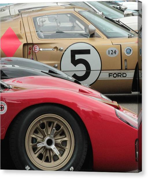 Ford Gt 40's Canvas Print