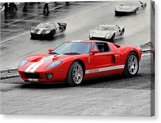 Ford Gt And Gt40 1966 Le Mans Win Canvas Print