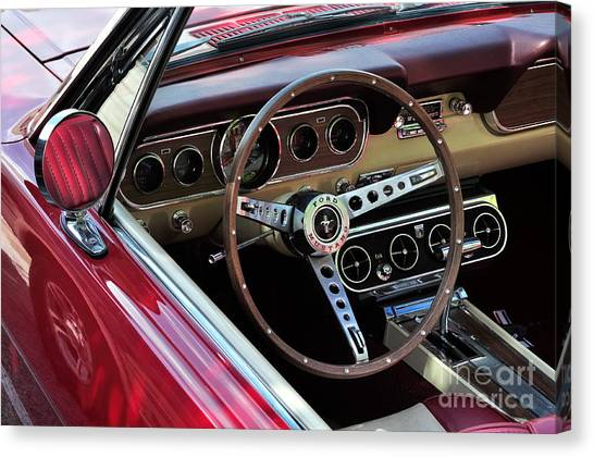 Ford Mustang Canvas Print by Andres LaBrada