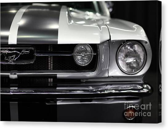 Muscles Canvas Print - Ford Mustang Fastback - 5d20342 by Wingsdomain Art and Photography