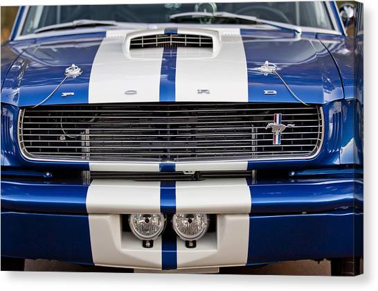 Grills Canvas Print - Ford Mustang Grille Emblem by Jill Reger