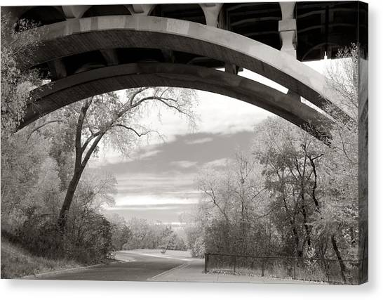 Ford Parkway Bridge Over West River Road In Minneapolis Canvas Print