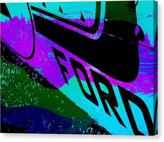 Muscle Cars Canvas Print - Ford Racing  by Naxart Studio