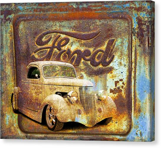 Canvas Print - Ford Coupe Rust by Steve McKinzie