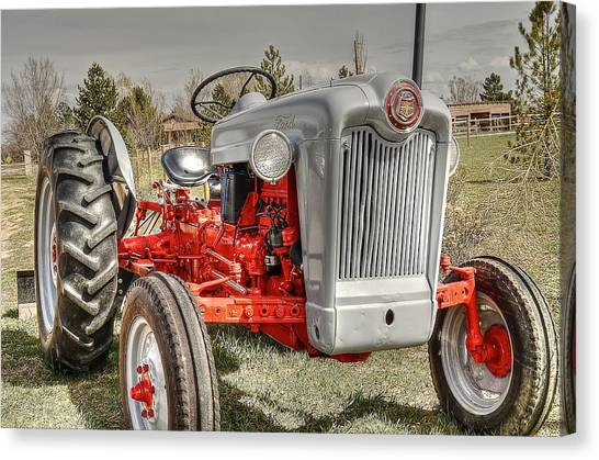 Ford Tractor Canvas Print by Peter SPAGNUOLO