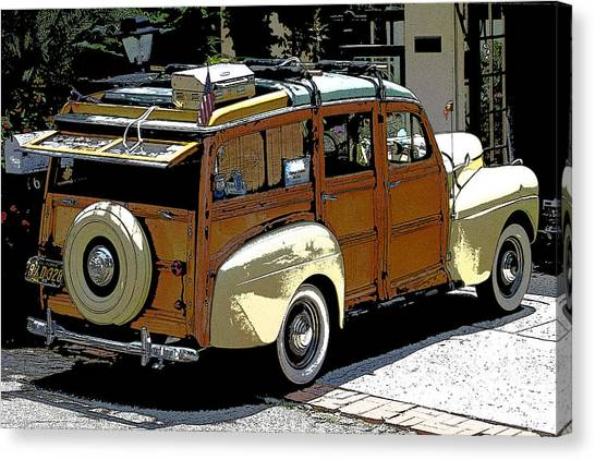 Ford Woodie Canvas Print