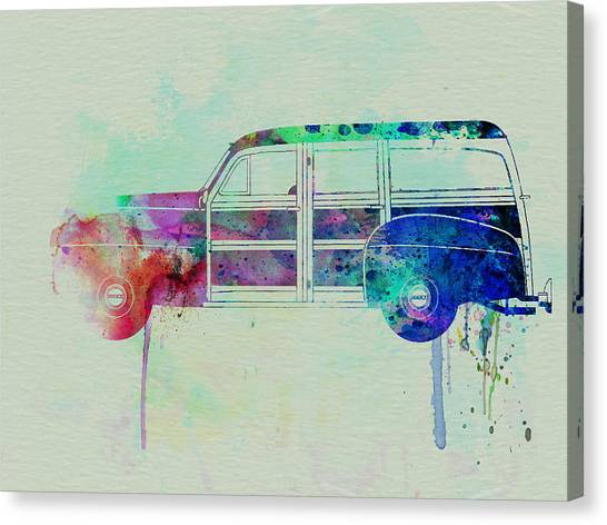 Surfer Canvas Print - Ford Woody by Naxart Studio
