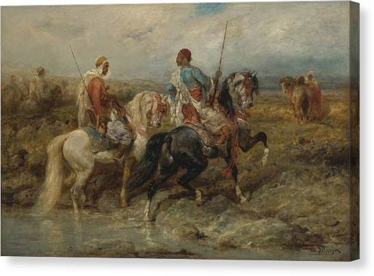 Jihad Canvas Print - Fording A Stream by Celestial Images