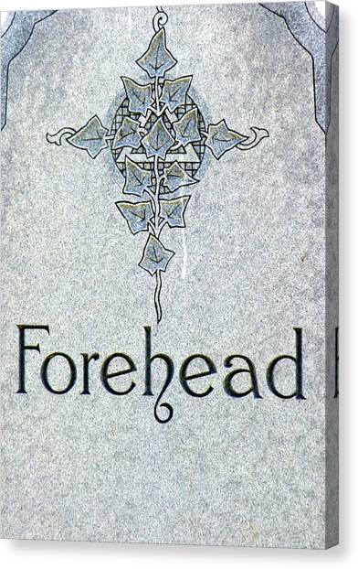 Canvas Print featuring the photograph Forehead Headstone by Jeff Lowe