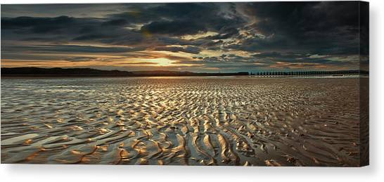 Foreshore At Dusk Canvas Print