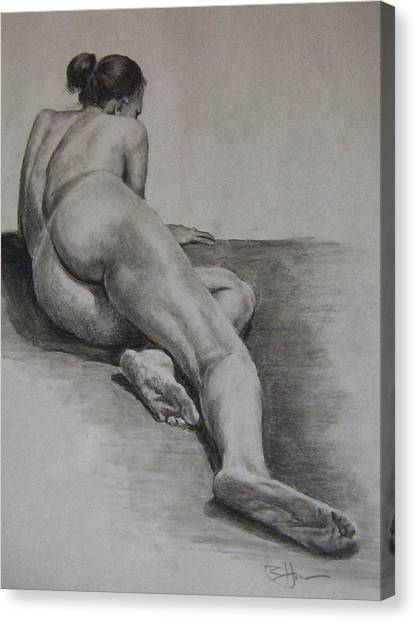 Foreshortened Nude Canvas Print