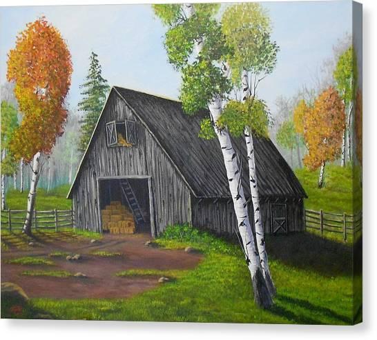 Forest Barn Canvas Print