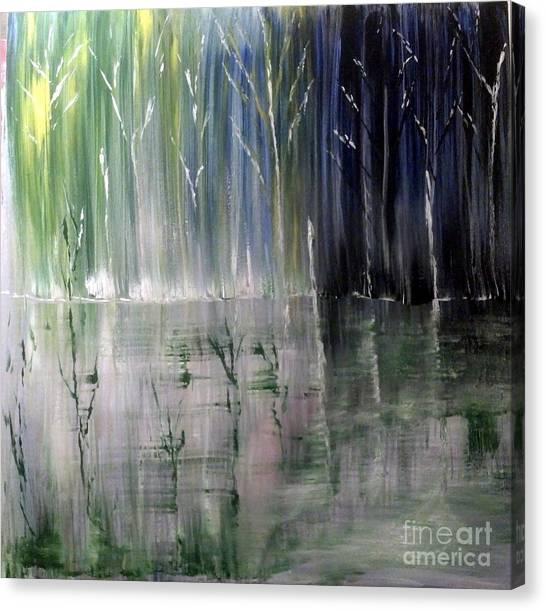 Forest Curtain Canvas Print