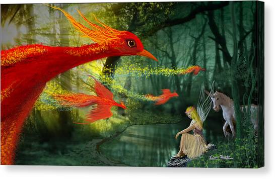 Forest Fantasy 1 Canvas Print