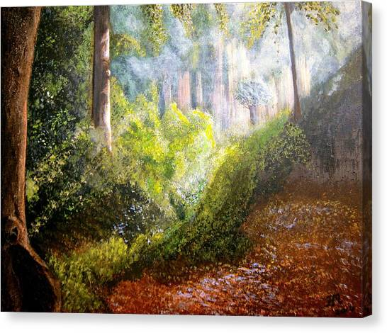 Forest Glade Canvas Print by Heather Matthews
