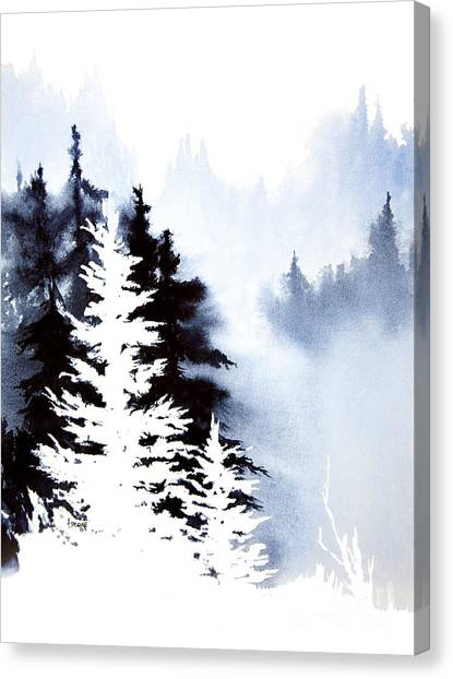 Forest Indigo Canvas Print