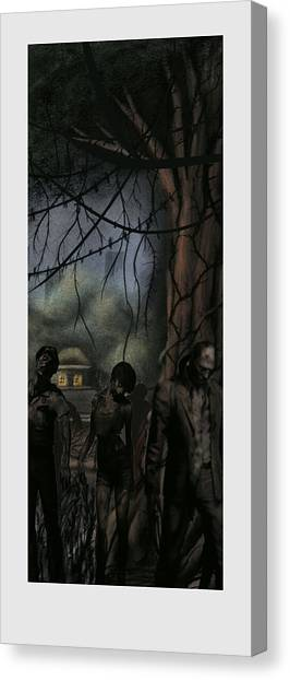 Resident Evil Canvas Print - Forest Of The Dead by Aaron McElfish
