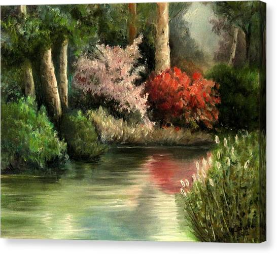 Forest Pond Canvas Print