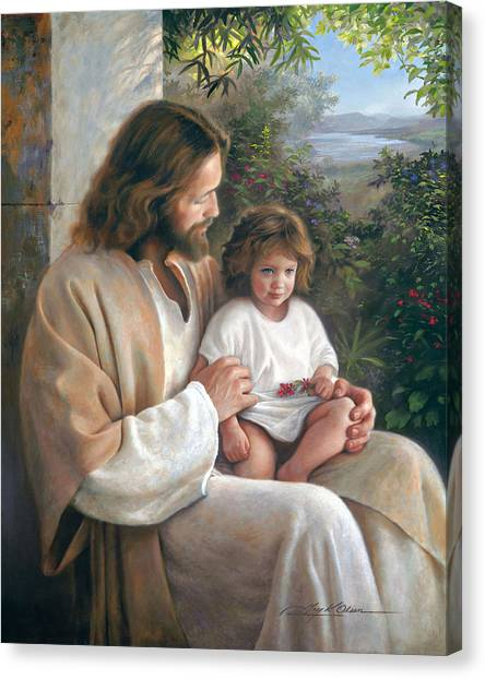 Brown Canvas Print - Forever And Ever by Greg Olsen
