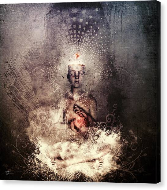 Meditate Canvas Print - Forever Can Be by Cameron Gray