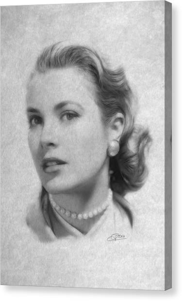 Grace Kelly Canvas Print - Forever In Our Hearts by Steve K
