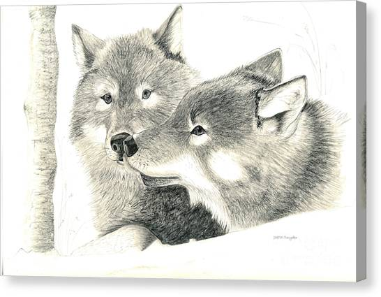 Forever Wolf Love-the Greeting Canvas Print