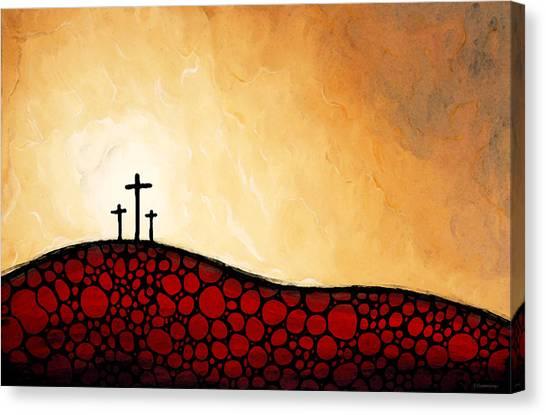 Old Christ Church Canvas Print - Forgiven - Christian Art By Sharon Cummings by Sharon Cummings