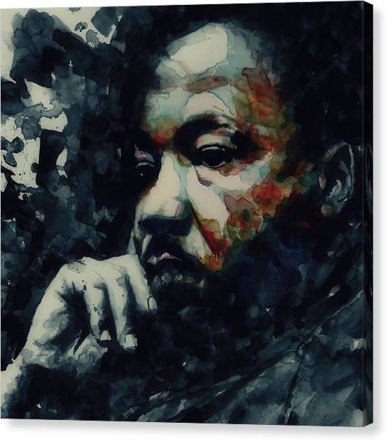 Martin Luther King Canvas Print - Martin Luther King -forgiveness Is Not An Occasional Act It Is A Constant Attitude by Paul Lovering