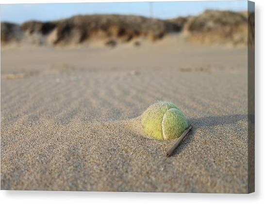 Tennis Ball Canvas Print - Forgotten Fun by Joe Cook