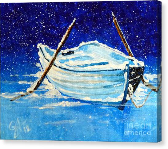 Forgotten Rowboat Canvas Print