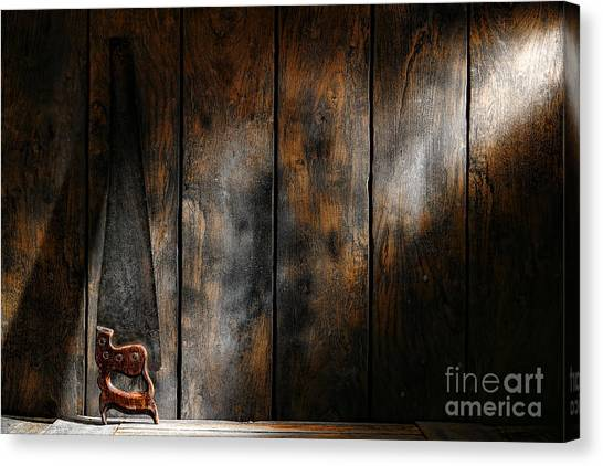 Saws Canvas Print - Forgotten Tool by Olivier Le Queinec