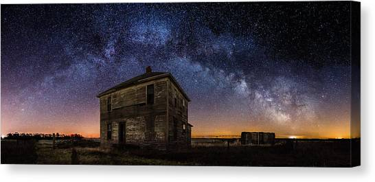 Old Houses Canvas Print - Forgotten Under The Stars  by Aaron J Groen